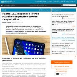 iPadOS 13.1 disponible : l'iPad accueille son propre système d'exploitation