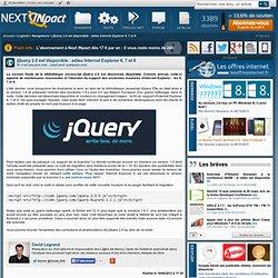 jQuery 2.0 est disponible : adieu Internet Explorer 6, 7 et 8