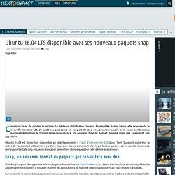 Ubuntu 16.04 LTS disponible avec ses nouveaux paquets snap