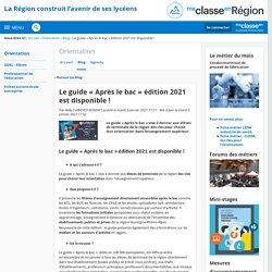 Le guide « Après le bac » édition 2021 est disponible ! - Orientation - Région Auvergne-Rhône-Alpes
