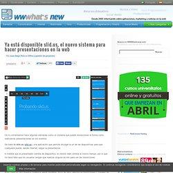 Ya está disponible slid.us, el nuevo sistema para hacer presentaciones en la web
