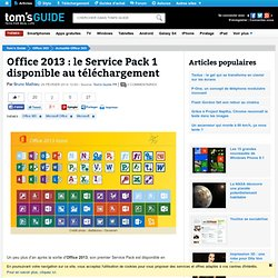 Office 2013 : le Service Pack 1 disponible au téléchargement