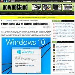 Windows 10 build 9879 est disponible au téléchargement - Logiciels/OS