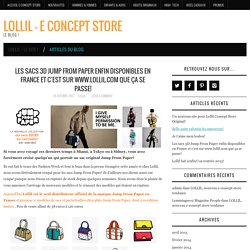 Les sacs 3D Jump From Paper enfin disponibles en France et c'est sur www.lollil.com que ça se passe! - LOLLIL - E Concept STORE