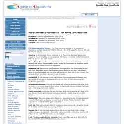 5% NICOTINE - Canada, free classifieds - Freeads