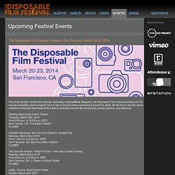 The Disposable Film Festival - Events
