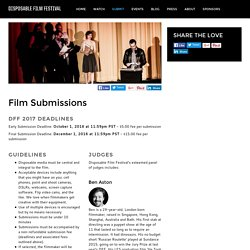 Disposable Film - Film Submissions