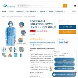 Disposable Isolation Gown, Level 1 - 10pc (DG-5) — VizoCare