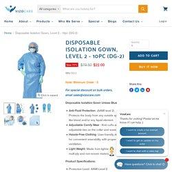 Disposable Isolation Gown, Level 2 - 10pc (DG-2) — VizoCare