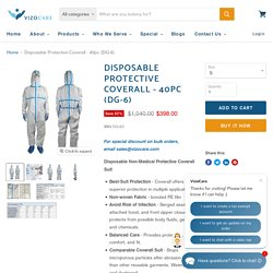Disposable Protective Coverall - 40pc (DG-6) — VizoCare