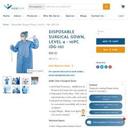 Disposable Surgical Gown, Level 4 - 10pc (DG-10) — VizoCare