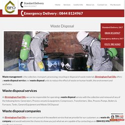 Waste Oil Disposal Services Birmingham - Birmingham Fuel Oils