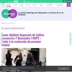 Jeune diplômé disposant de faibles ressources ? Demandez l'ARPE - etudiant.gouv.fr