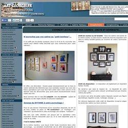 Règles pour disposer des tableaux sur le mur : agencement de cadres
