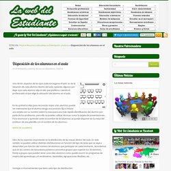 Disposición de los alumnos en el aulala web del estudiante