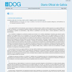 Disposición del Diario Oficial de Galicia - Xunta de Galicia