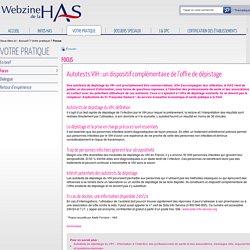 Autotests VIH : un dispositif complémentaire de l'offre de dépistage