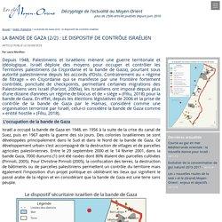 La bande de Gaza (2/2) : le dispositif de contrôle israélien