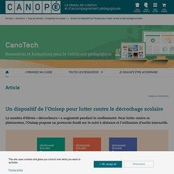 Un dispositif de l'Onisep pour lutter contre le décrochage scolaire - CanoTech