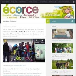 Dispositif ECORCE – Blog pédagogique du dispositif ECORCE