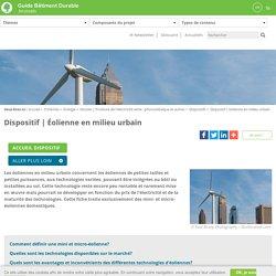 Éolienne en milieu urbain