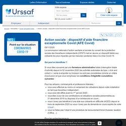 Action sociale : dispositif d'aide financière exceptionnelle Covid (AFE Covid)