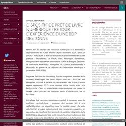 Dispositif de prêt de livre numérique / Retour d'expérience d'une BDP bretonne