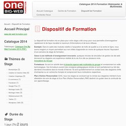 Catalogue Formation 2014 - Web - Graphisme - Audio - Video