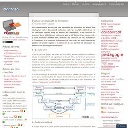 Evaluer un dispositif de formation Blog Prodageo