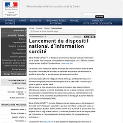 Lancement du dispositif national d'information surdité