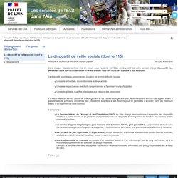 Le dispositif de veille sociale (dont le 115) - Internet des services de l'Etat dans l'Ain