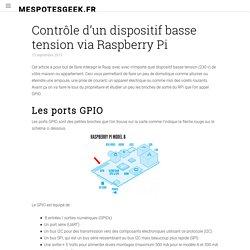 Contrôle d'un dispositif basse tension via Raspberry Pi – MesPotesGeek.fr