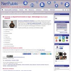 Concevoir un dispositif de formation en ligne : Méthodologie via un cours interactif