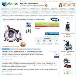 Dispositif motorisé E-MOTION pour fauteuils roulans manuels