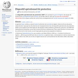 Dispositif opérationnel de protection
