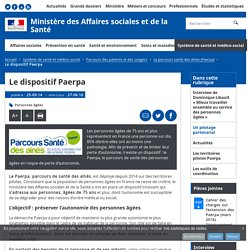 Le dispositif Paerpa - Le parcours santé des aînés (Paerpa) - Ministère des Affaires sociales et de la Santé