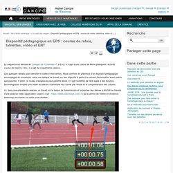 Dispositif pédagogique en EPS : course de relais, tablettes, vidéo et ENT