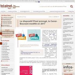 Dispositif Pinel prolongé, Censi-Bouvard modifié en 2017