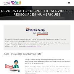 Devoirs faits : dispositif, services et ressources numériques