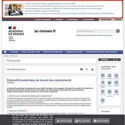 Dispositif académique de recueil des signalements / stop-discri (personnels de l'Education Nationale)