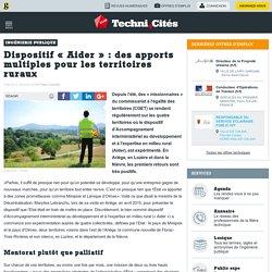 """Dispositif """"Aider"""" : des apports multiples pour les territoires ruraux"""