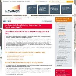 Le dispositif de validation des acquis de l'expérience (VAE) – Novancia Business School Paris