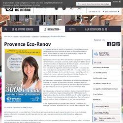 Provence Eco-Renov – Les dispositifs –Site du Département des Bouches-du-Rhône