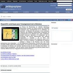 Dispositifs numériques pour l'enseignement de la littérature