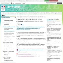 NACRE et autres dispositifs d'aide à la création d'entreprise - Direccte Occitanie