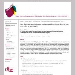 L'étude de la place du spectateur au sein de dispositifs artistiques et numériques: cadre historiographique et enjeux