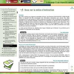 Le Marquage CE des dispositifs médicaux - Focus sur la notice d'instruction