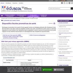 Promotion de la santé - Dispositifs d'écoles promotrices de santé