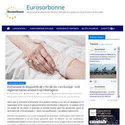 Euthanasie et dispositifs de « fin de vie » en Europe : une réglementation encore trop hétérogène