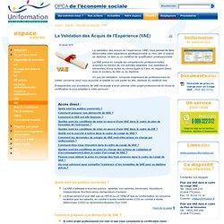 La Validation des Acquis de l'Expérience (VAE) – Dispositifs de formation – Bienvenue sur votre Espace Salariés